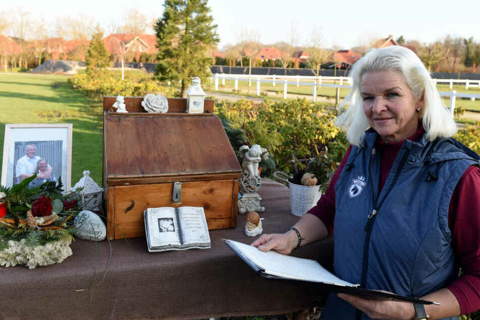 Tammes Witwe Carmen bekam nach dem plötzlichen Tod ihres Mannes einen Wäschekorb voll mit Beileidsbekundungen.