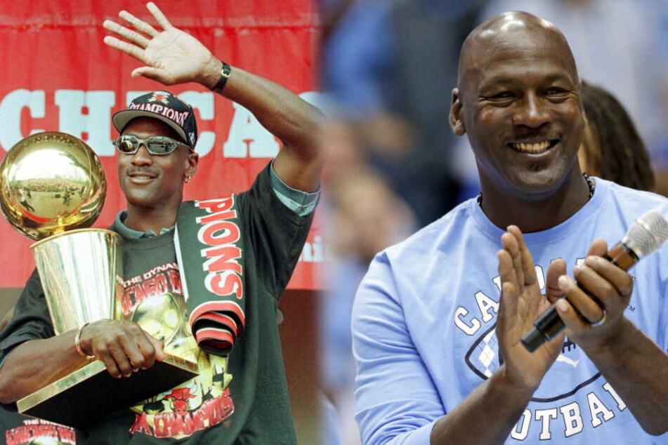 Michael Jordan wurde sechsmal NBA-Champion mit den Chicago Bulls und ist einer der besten Sportler aller Zeiten. (Fotomontage)