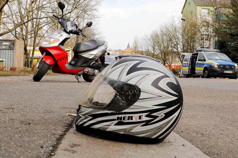 Die Motorradfahrerin wurde bei dem Unfall schwer verletzt.