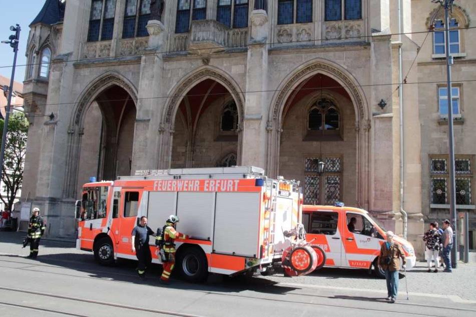 Die Feuerwehr rückte sofort an.
