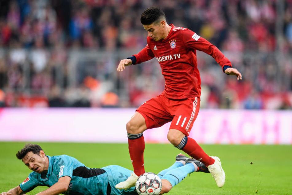 James Rodriguez fehlt dem FC Bayern München in den nächsten Wochen. (Archiv)