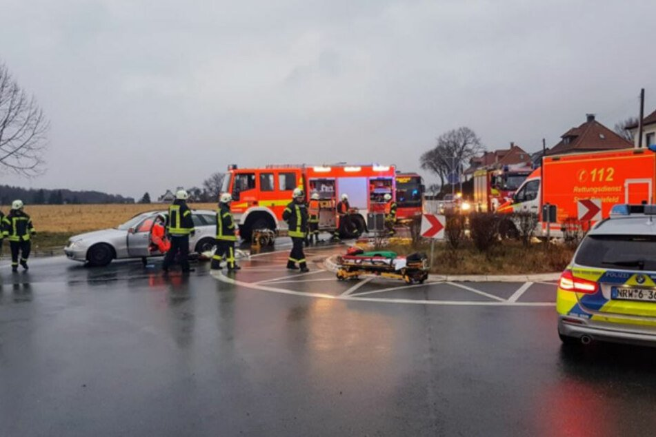 Der Verkehr musste nach dem Unfall umgeleitet werden.