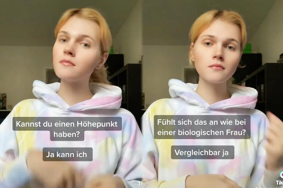 Auch Fragen zum Thema Sexualität beantwortete Lucy Hellenbrecht (22) in dem Videoclip freimütig.