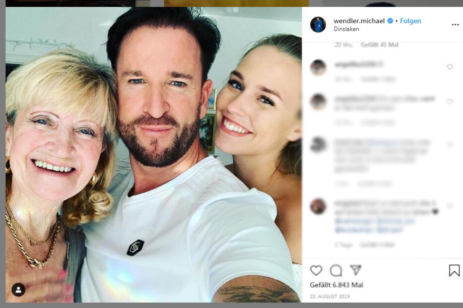 Michael Wendlers Mama Christina, Michael Wendler und seine neue Freundin Laura Müller.