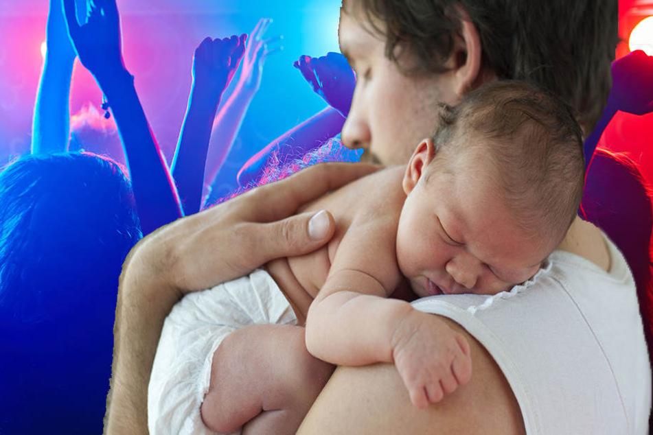 Der Vater schleppte tatsächlich sein Baby mit zur Party. (Symbolbild)