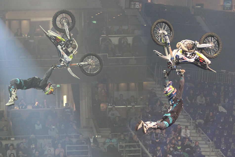"""German FMX Wonderboy"": Luc Ackermann am Freitag."