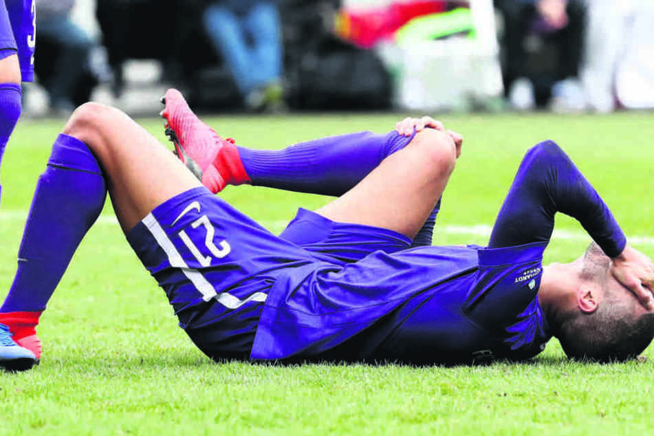 Das tat weh! Im März zerlegte sich Malcolm Cacutalua das Kreuzband im rechten Knie.