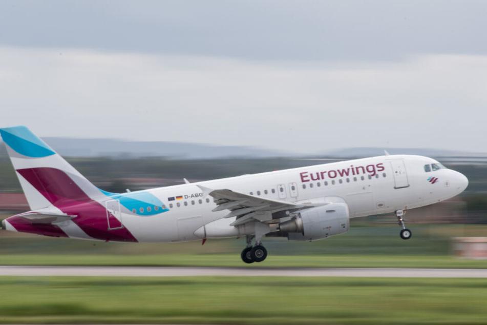 Am Sonntag musste ein Eurowings-Flieger umkehren.