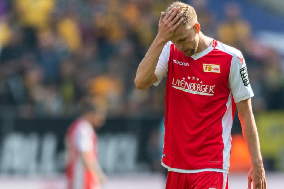 Marvin Friedrich ist mit dem Ergebnis gegen Dynamo Dresden nicht zufrieden.