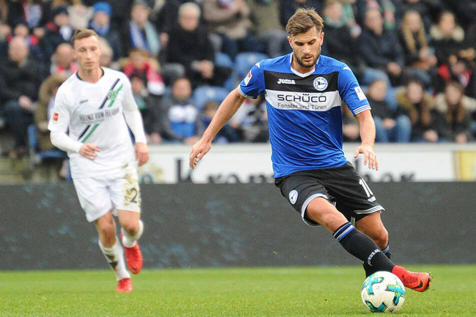Christopher Nöthe, der wegen eines Kreuzbandrisses noch kein einziges Spiel diese Saison machen konnte, startete gegen Hannover von Beginn an.