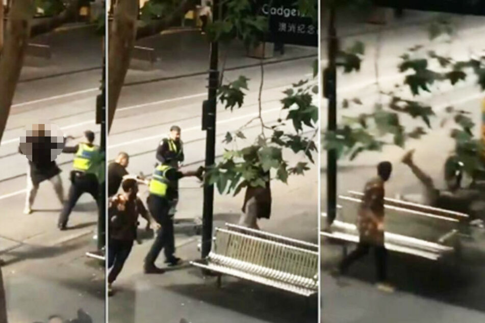 Der Angreifer wurde von der Polizei niedergestreckt, nachdem er einen Menschen erstochen hatte.