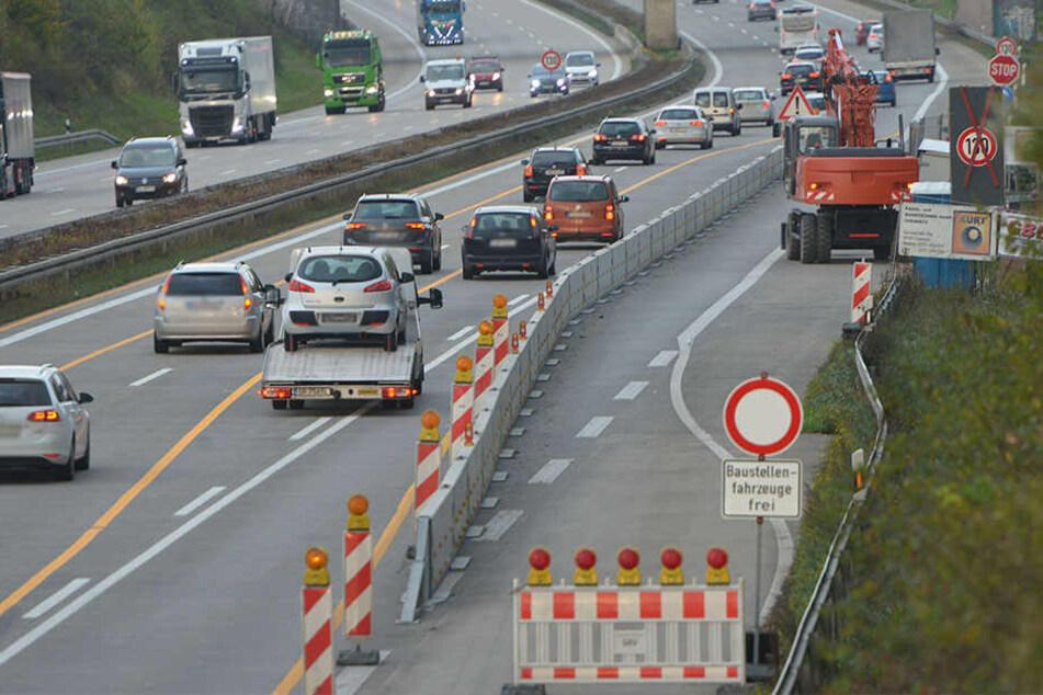 Kleine Baustelle, großes Problem: Die Polizei erwischte auf der A4 in einer Nacht 2145 Schnellfahrer.