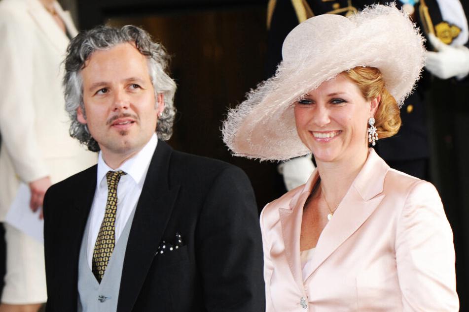 Prinzessin Märtha Louise von Norwegen und Ehemann Ari Behn bei der Taufe der schwedischen Prinzessin Estelle in Stockholm, 2012.