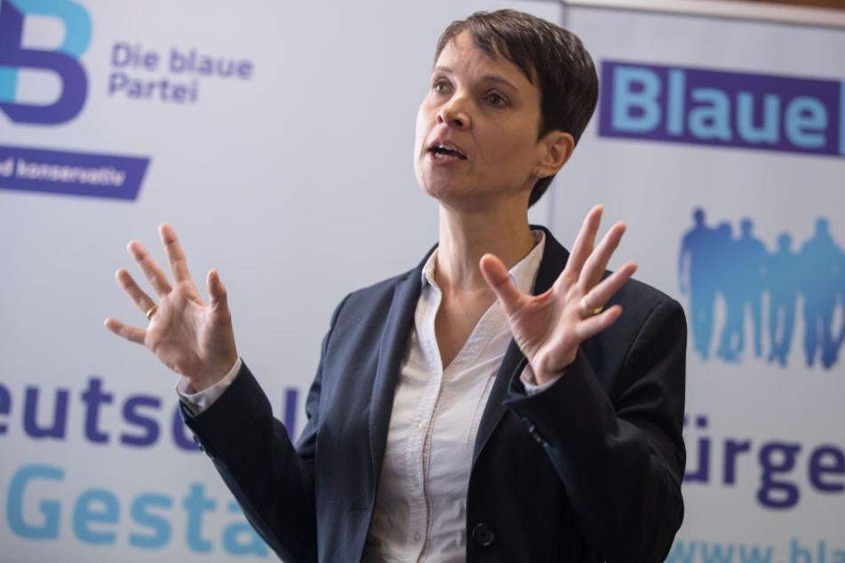 """Frauke Petry hatte 2017 die AfD verlassen und """"Die Blaue Partei"""" gegründet."""