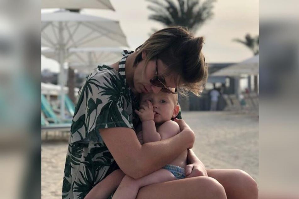 Gemeinsam mit Sohn Matti genießt Anna-Maria jede Minute.