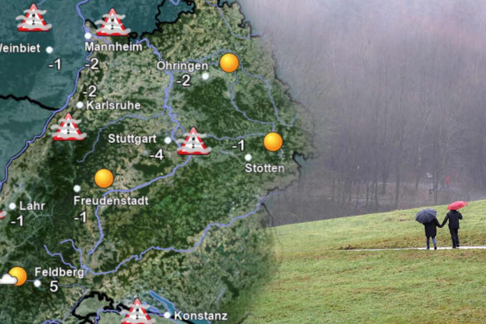 So düster wird das Wetter in Baden-Württemberg