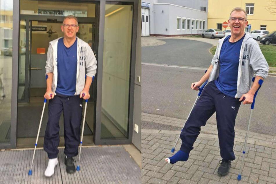 R.SA-Moderator Uwe Fischer geht's nach seinem Unfall ruhig an. Ganz untätig sein kann der 50-Jährige aber nicht.