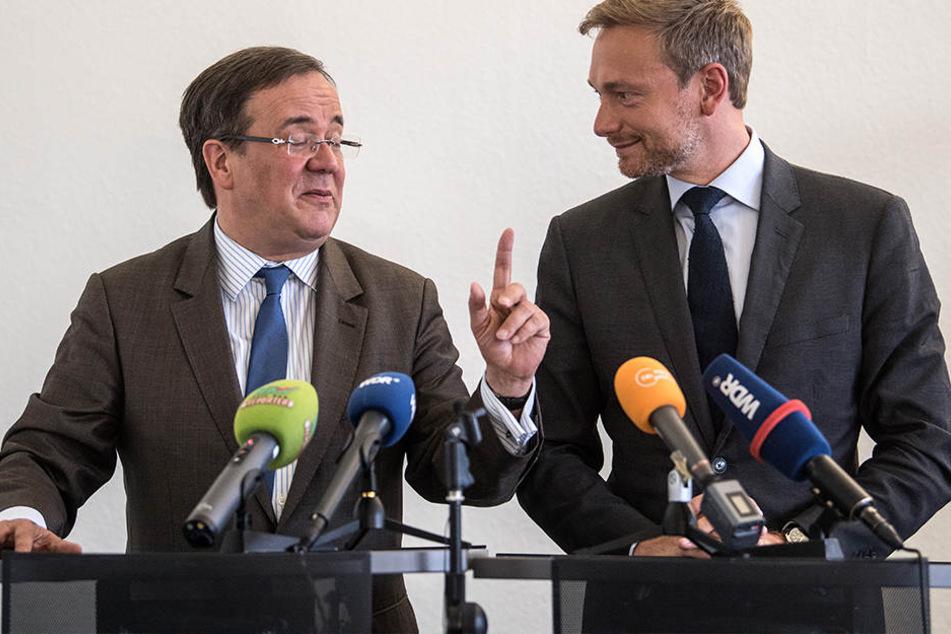 Armin Laschet (l.) (CDU) und Christian Lindner (FDP) sind sich schon einig.