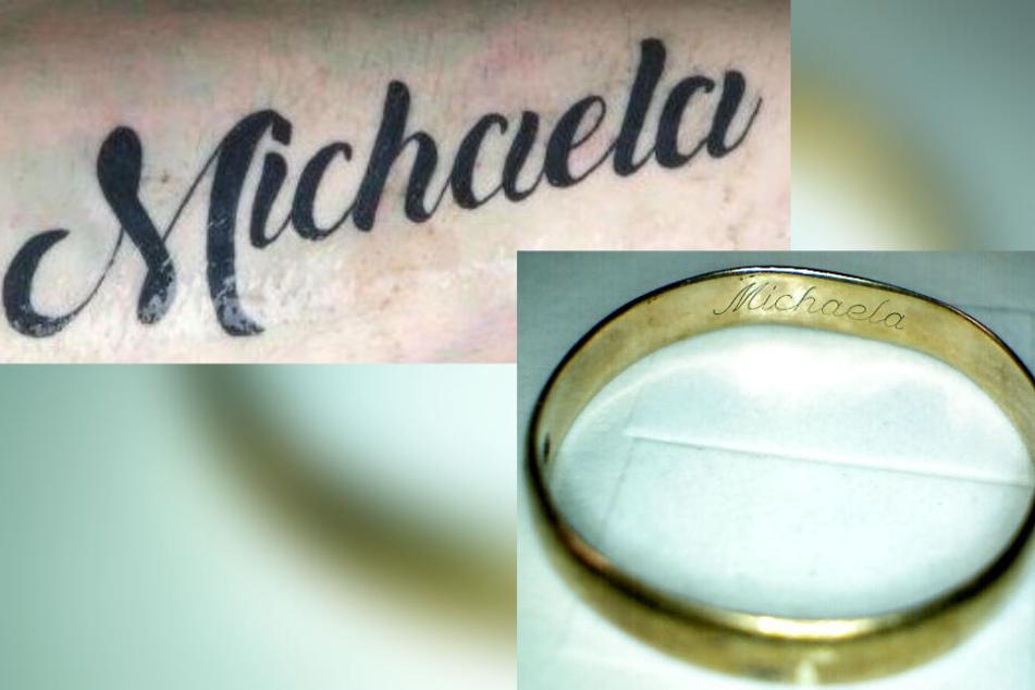 """Der Getötete trug ein """"Michaela""""-Tattoo auf dem linken Unterarm und einen goldenen Ring am rechten Ringfinger, ebenfalls mit der Gravur """"Michaela""""."""