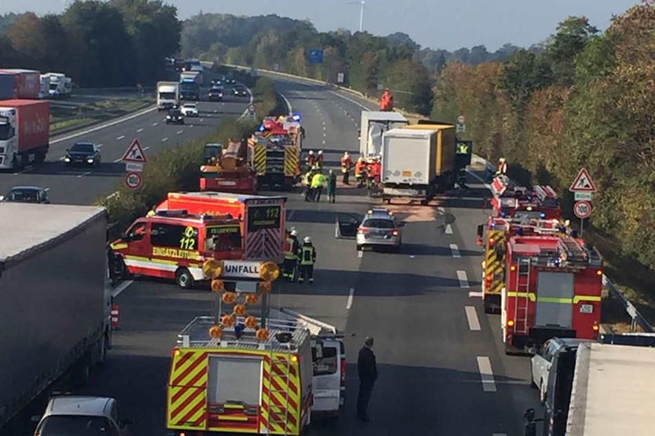 Zwei Lkw waren an dem Unfall beteiligt.