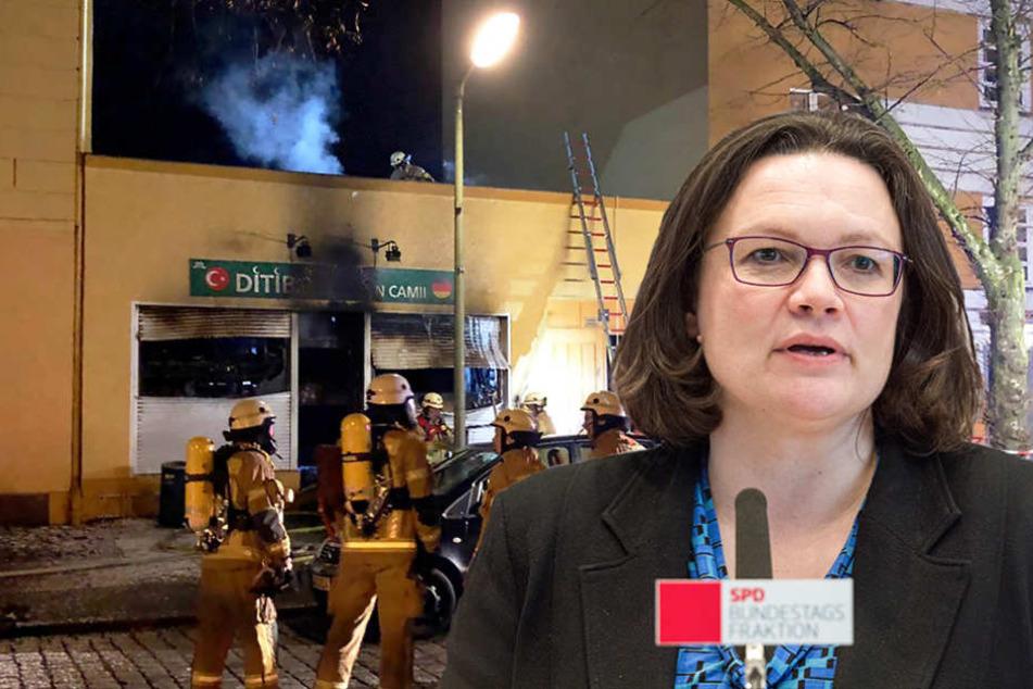 """SPD-Chefin Andrea Nahles (47, SPD) nannte die Anschläge """"verdammenswert""""."""