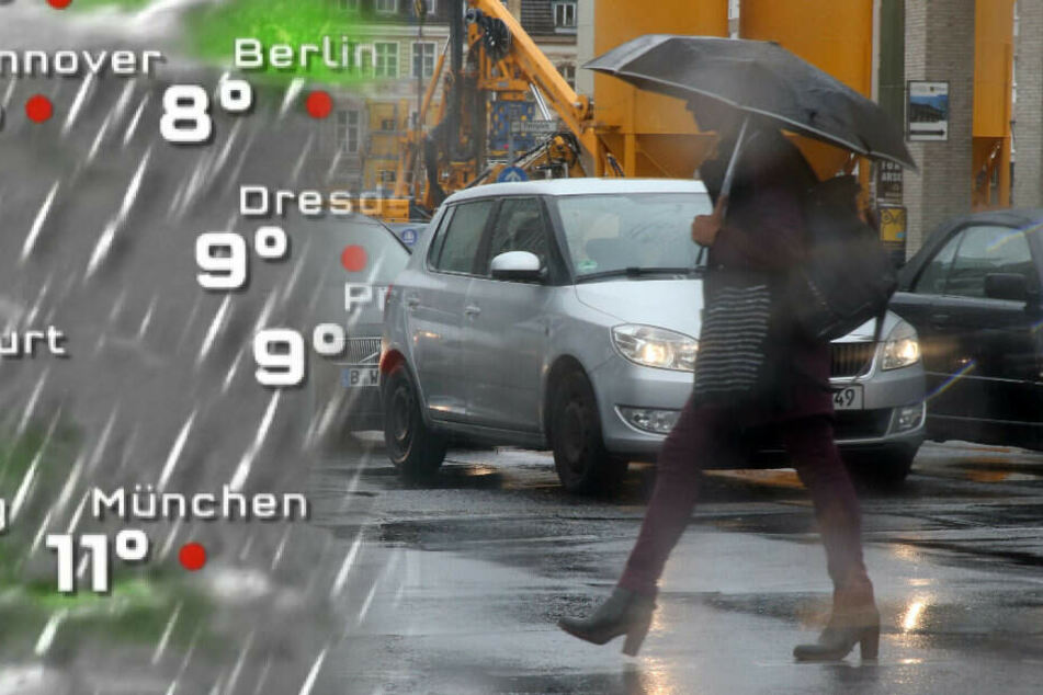 In Berlin und Brandenburg wird es nass.