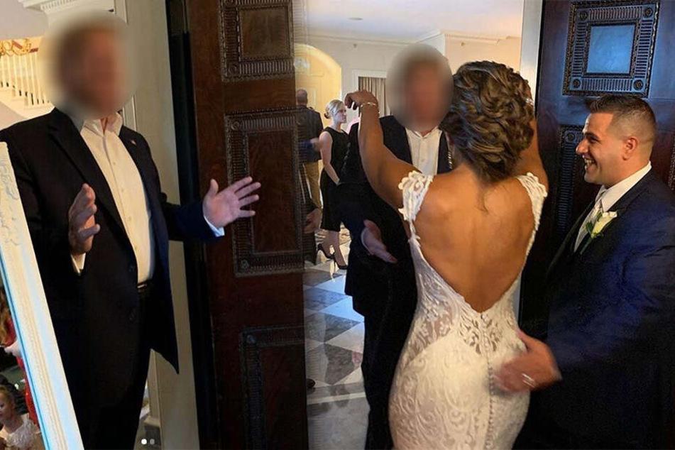 Paar feiert Hochzeit und kann nicht fassen, wer dort plötzlich auftaucht