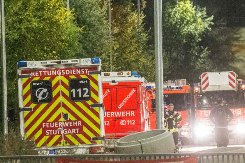Rettungskräfte waren vor Ort: Jedoch musste keiner der Porsche-Arbeiter ins Krankenhaus.