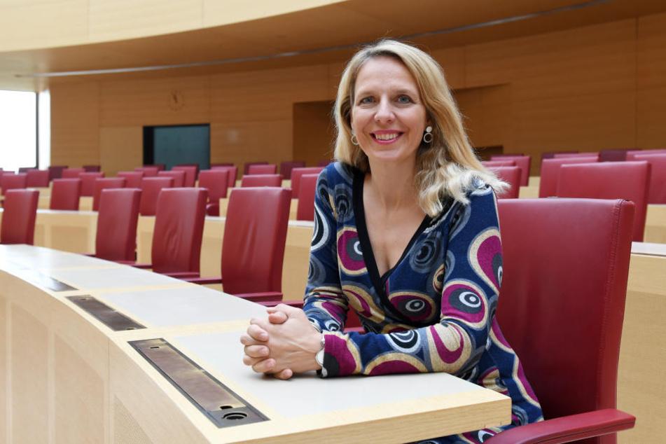 Julika Sandt (47) ist die einzige Frau der FDP-Fraktion im bayerischen Landtag.