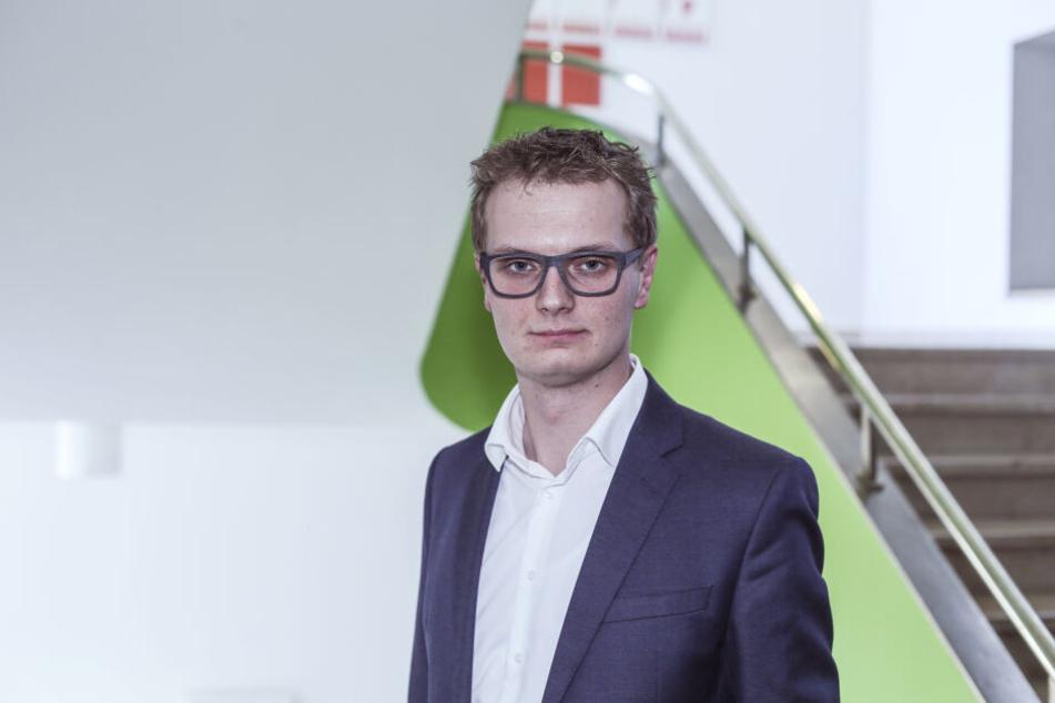 Transparenz in eigener Sache: Valentin Lippmann (28, Grüne) informiert auf seiner Website im Internet über seine Abgeordneten-Einkünfte.