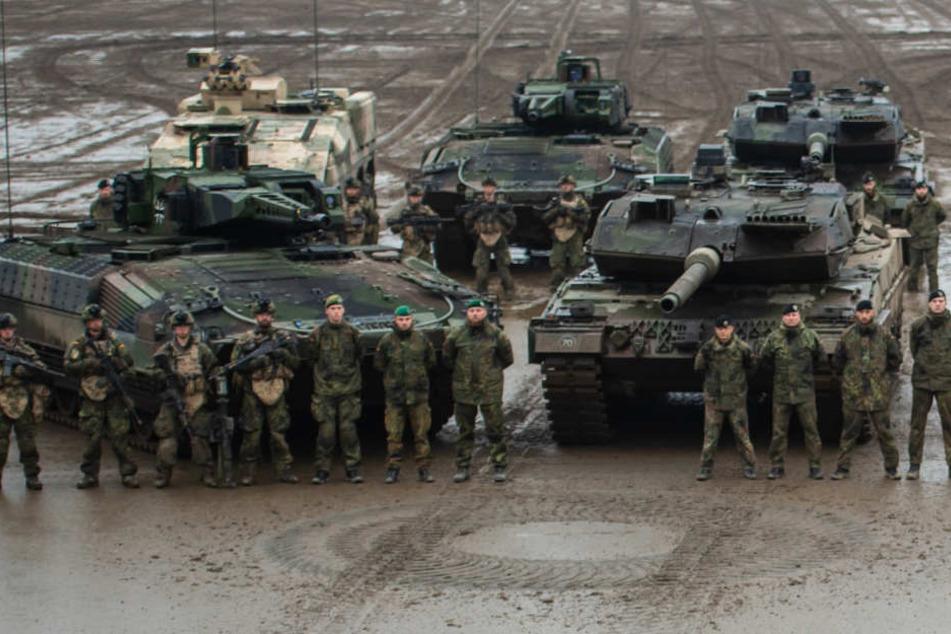 Soldaten im niedersächsischen Munster.