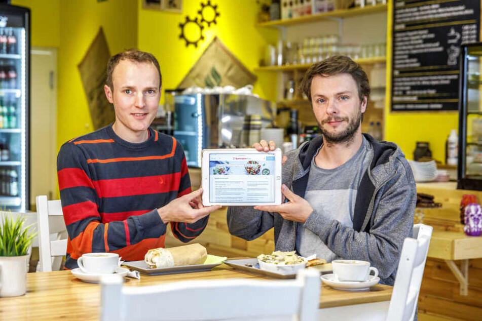 Dank den Entwicklern Martin Bruck (35, l.) und Manuel Gillner (36) wissen Hungrige, wo es das beste Mittagsangebot gibt.