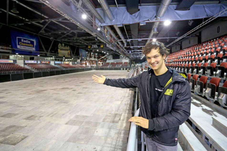 Dominique Thury (24) hat sich bei seinem Heimrennen in der Chemnitzer Messe viel vorgenommen.