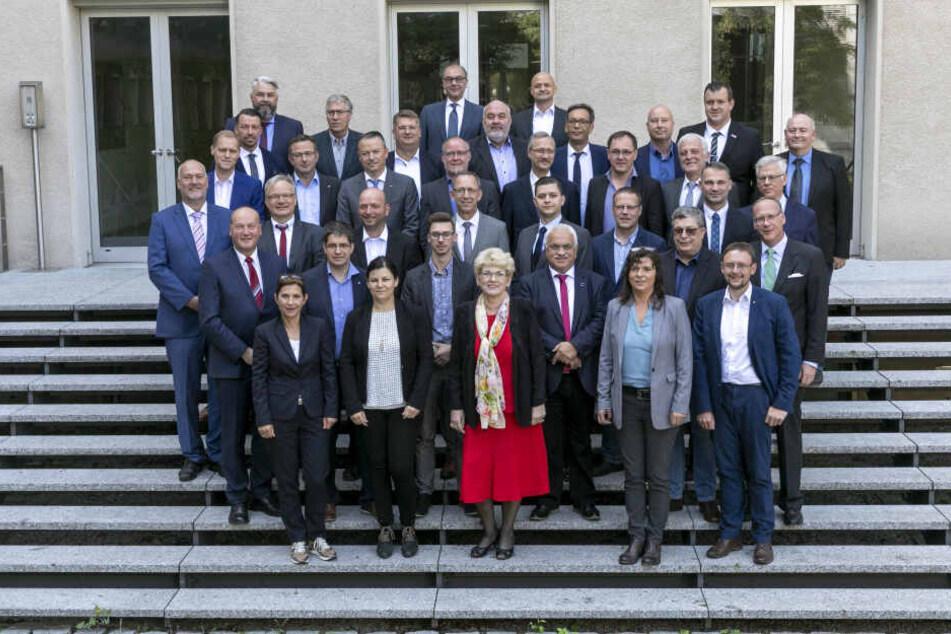 Sächsischer Landtag: Gruppenfoto der AfD-Fraktion