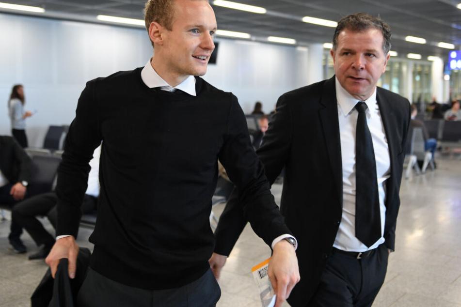 2010 sorgte Andy Möller (Re.) - damals noch in Diensten der Offenbacher Kickers - für den Transfer von Sebastian Rode zur Eintracht.
