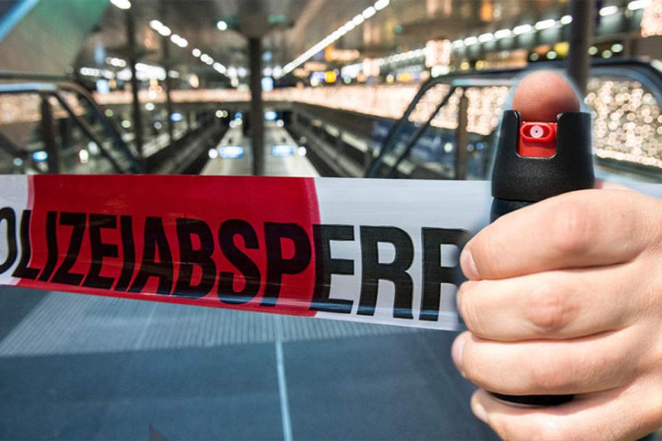 Eine Schulklasse wurde im Berliner Hauptbahnhof mit Pfefferspray attackiert. (Bildmontage)