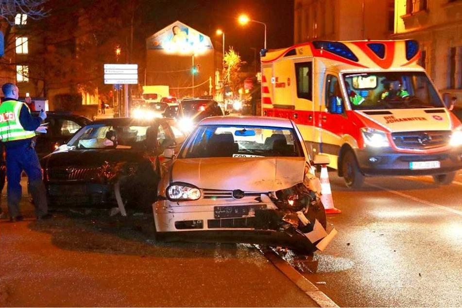 Schwerer Unfall in Pirna: Langer Stau auf B172