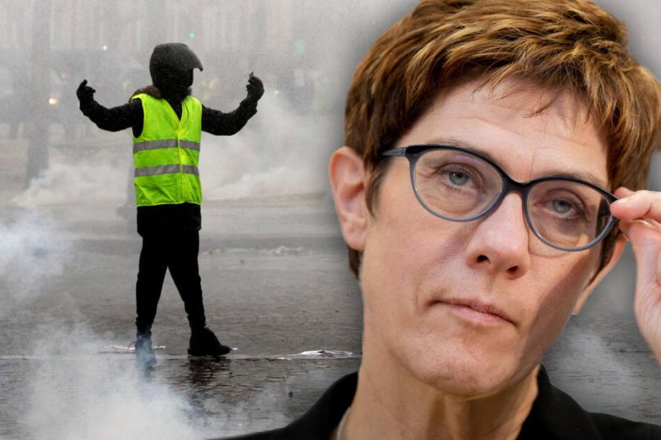 """Annegret Kramp-Karrenbauer: Deutschland bietet """"Gelbwesten"""" keinen Nährboden."""