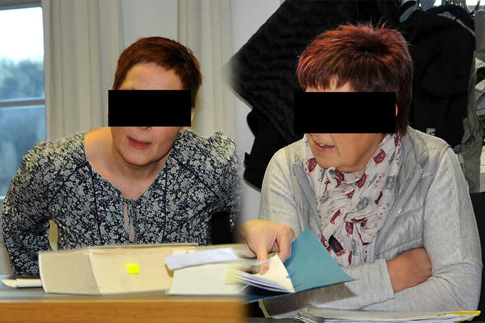 Auf der Anklagebank: Beate H. (l.) und Katrin E.