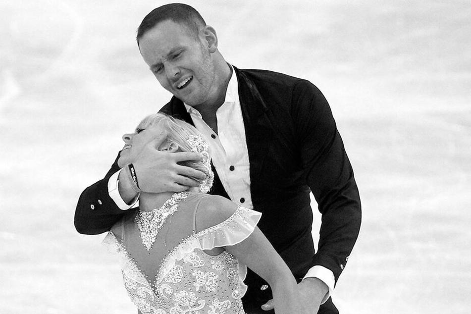 John Coughlin mit seiner damaligen Eiskunstlauf-Partnerin Caydee Denney.