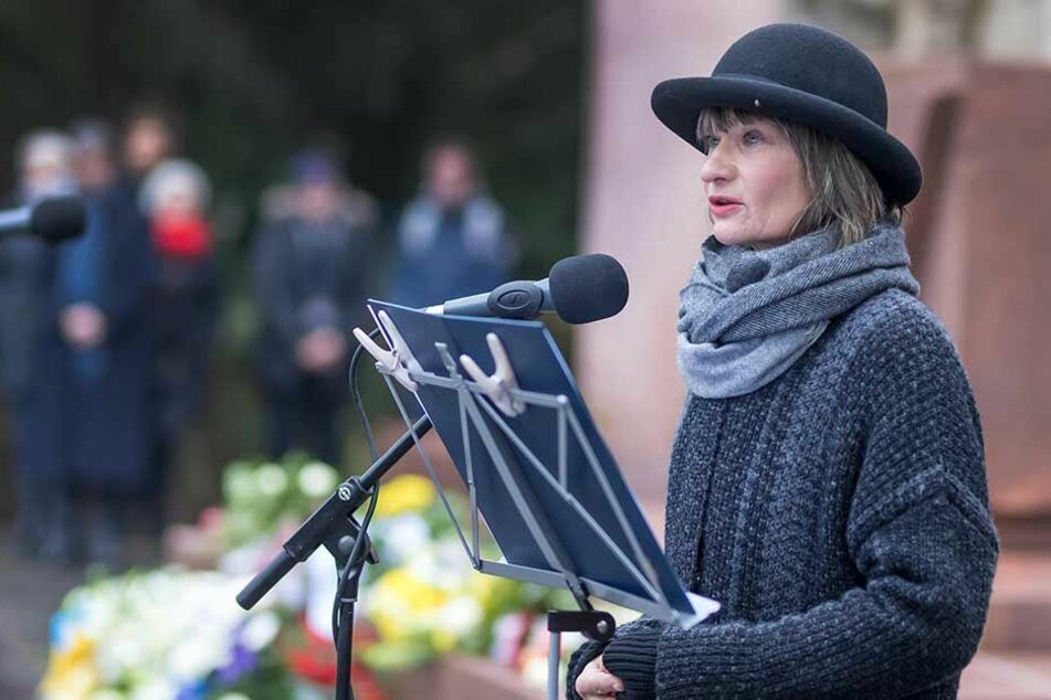 Oberbürgermeisterin Barbara Ludwig (55, SPD) bei ihrer Ansprache.
