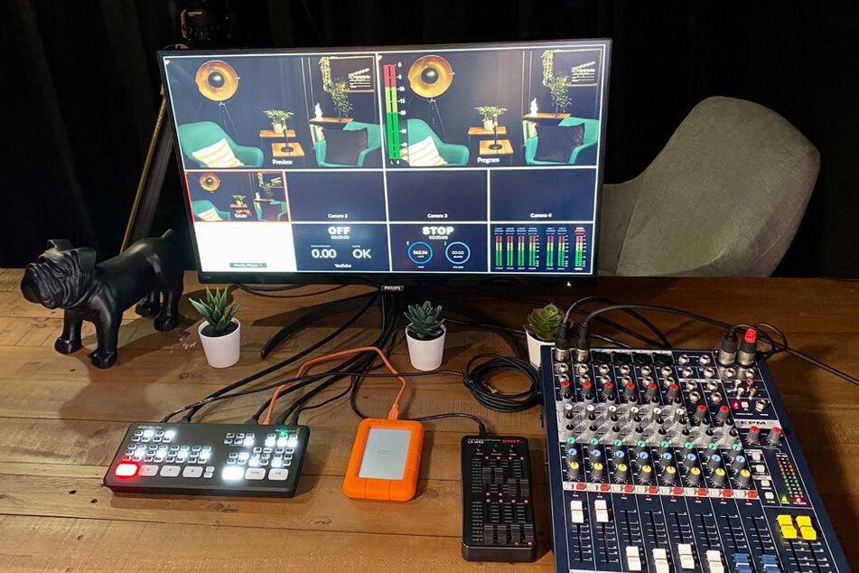 Licht, Kameras und Mikrofone: Die Technik ist umfangreich, soll aber leicht zu bedienen sein.