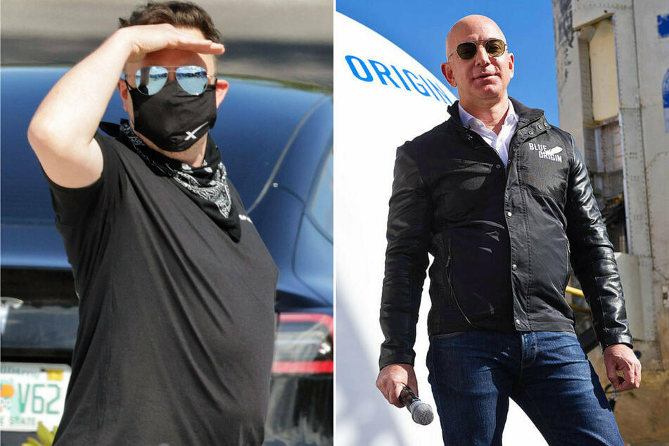 Jeff Bezos and Elon Musk are taking their space rivalry to new, petty heights