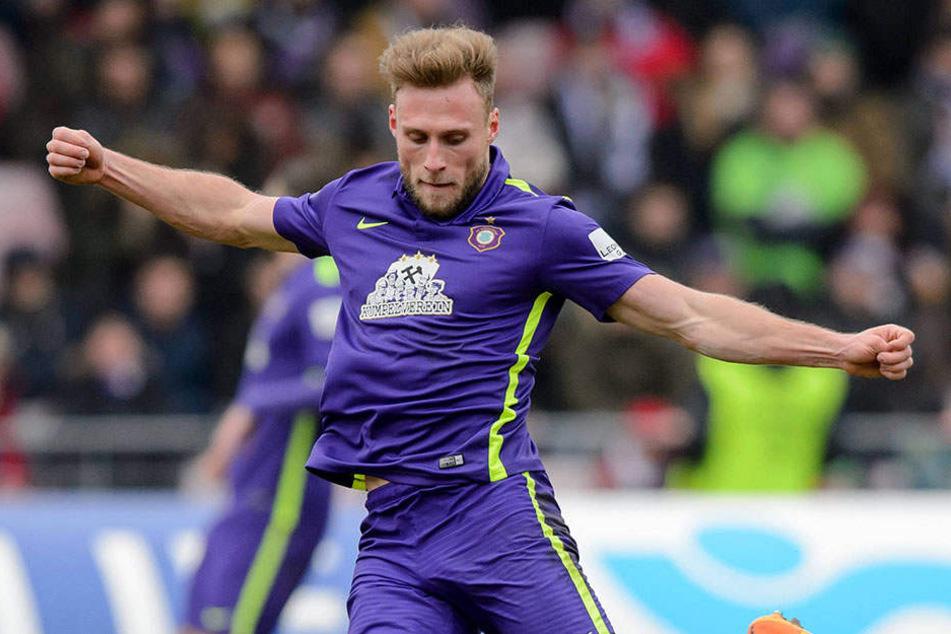 Max Wegner will schnell den Anschluss schaffen, um dem FCE in der 2. Bundesliga zu helfen.
