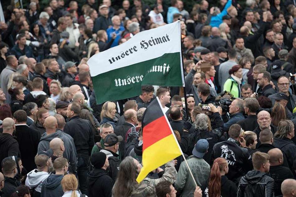 Auch durch die Ereignisse in Chemnitz stieg laut RAA die Zahl rechter Angriffe.