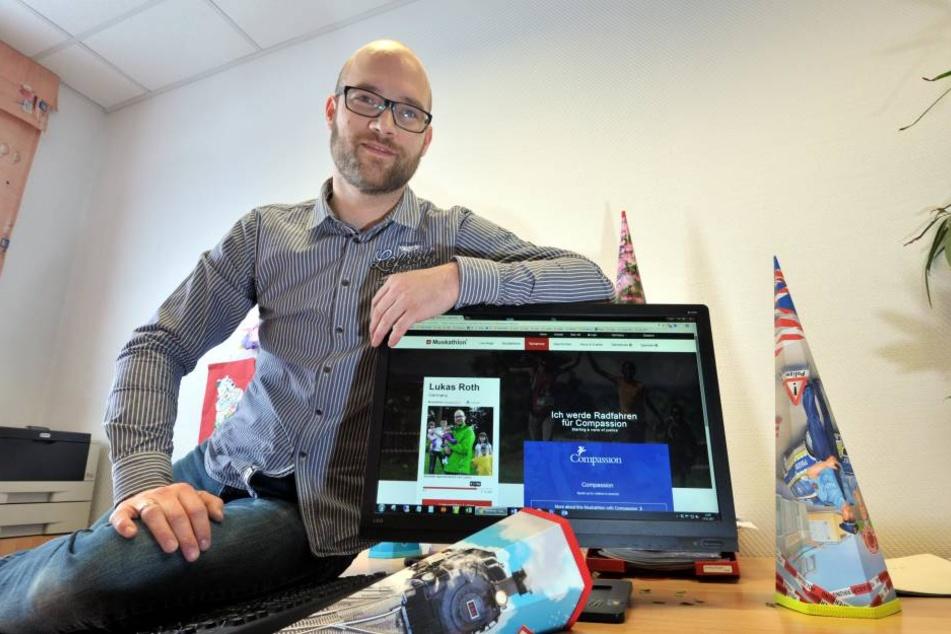 Firmenchef Lukas Roth (36) sammelt Spenden als Startgeld für den Muskathlon  in Ruanda.