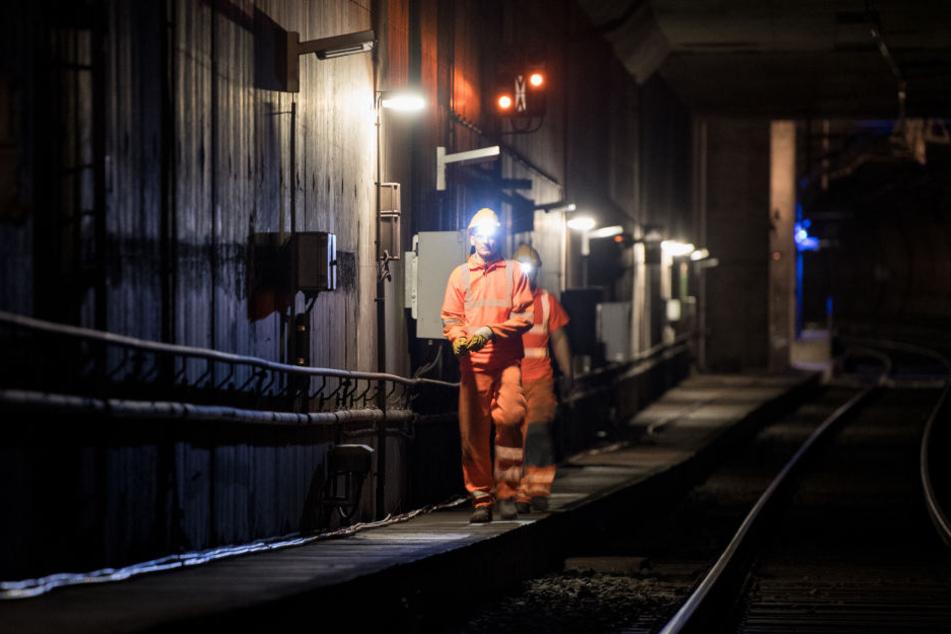 Zwischen 1.30 Uhr und 4.30 Uhr wird im City-Tunnel fleißig gearbeitet.