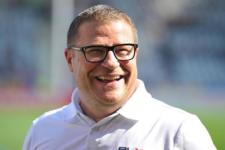 Sportdirektor Max Eberl hofft trotz Spielverlegung auf zahlreiche Fans.