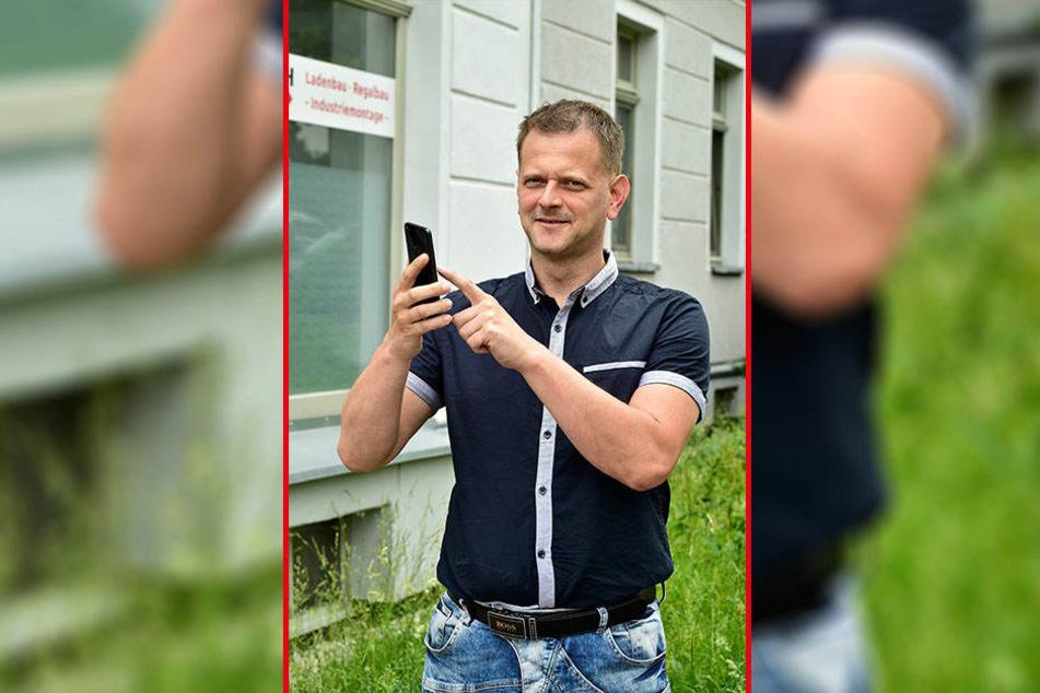 Kreiselternrat Sascha Reichenbach (39) plant eine Ausfall-App fürs Handy.