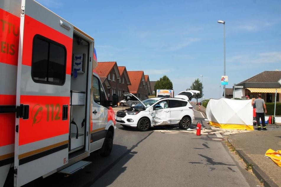 Der Unfallort in Gangelt am Freitagnachmittag.